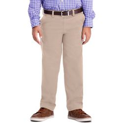 Haggar Little Boys Sustainable Flat Front Chino Pants
