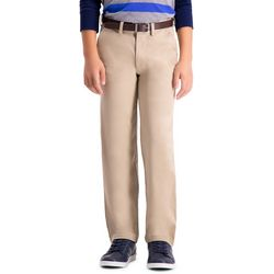 Haggar Big Boys Sustainable Flat Front Chino Pants