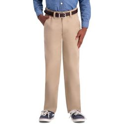 Haggar Big Boys Slim Fit Sustainable Flat Front Chino Pants