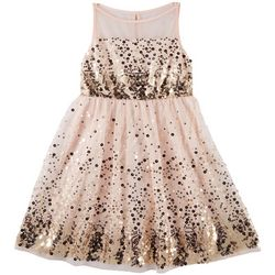 Emerald Sundae Big Girls Sequined Dress