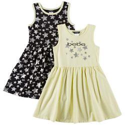 Bebe Big Girls 2-pk. Star Graphic Sleeveless Dresses