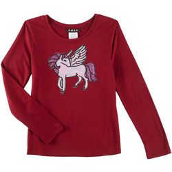 RMLA Big Girls Sequined Unicorn Long Sleeve T-Shirt
