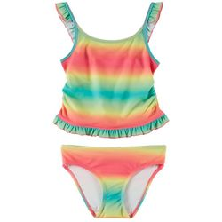 Reel Legends Big Girls Sherbert Ombre Tankini Swimsuit