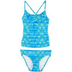 Reel Legends Little Girls Collidoscopes Tankini Swimsuit