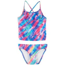 Reel Legends Big Girls Unicorn Flounce Tankini Swimsuit