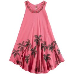 India Boutique Little Girls Palm Tree Swim Cover-Up