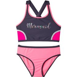 Big Chill Big Girls 2-pc. Mermaid Tankini Swimsuit