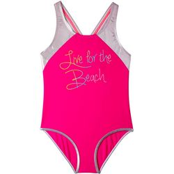 Big Chill Big Girls Live For The Beach One Piece Swimsuit