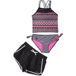 Limited Too Big Girls 3-pc. Geometric Tankini Swimsuit