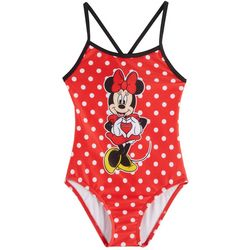 Disney Minnie Mouse Little Girls 1-pc. Dot Swimsuit