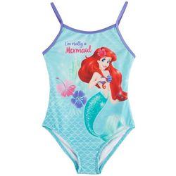 Disney Little Mermaid Little Girls I'm A Mermaid Swimsuit