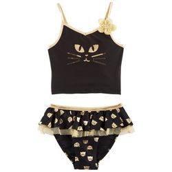 Flapdoodles Little Girls Cat Tankini Tutu Swimsuit