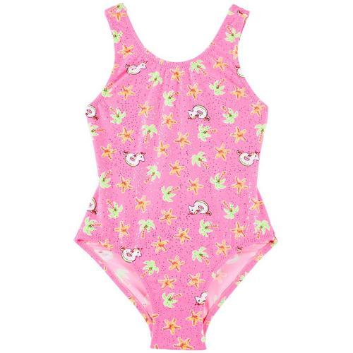 31658c206e965 Flapdoodles Little Girls Summer Unicorn Swimsuit   Bealls Florida