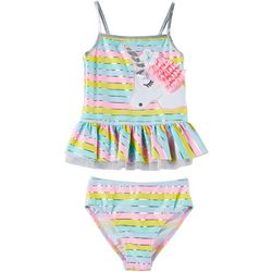 Flapdoodles Little Girls 2-pc. Unicorn Tankini Swimsuit