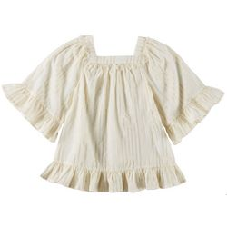 Flapdoodles Little Girls Lurex Striped Swim Cover-Up