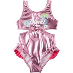 Flapdoodles Big Girls On Island Time Metallic Swimsuit