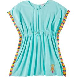 Flapdoodles Little Girls Tassel Kaftan Swim Cover-Up