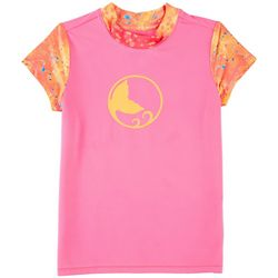 Reel Legends Little Girls Warped Mahi Rashguard