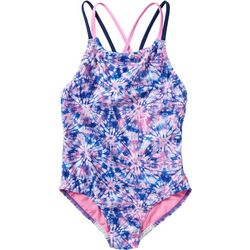 Speedo Big Girls Printed Strappy Swimsuit