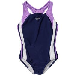 Speedo Big Girls Infinity Splice Racerback Swimsuit