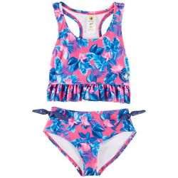 Body Glove Little Girls Floral Ruffle Tankini Swimsuit
