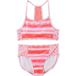 Body Glove Big Girls 2-pc. Tie Dye Print Swimsuit
