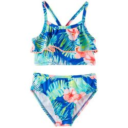 Penelope Mack Little Girls 2-pc. Tropical Hibiscus Swimsuit