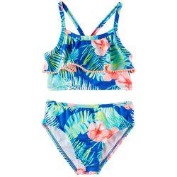 866829d360 Penelope Mack Little Girls 2-pc. Tropical Hibiscus Swimsuit