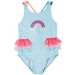 Penelope Mack Little Girls 1-pc. Rainbow Sequin Swimsuit