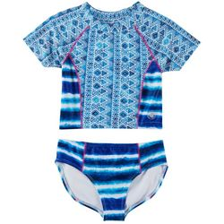 Body Glove Big Girls 2-pc. Tie Dye Rashguard Set