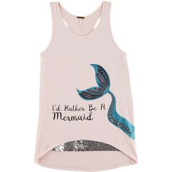 Poof Big Girls I'd Rather Be A Mermaid Tank Top