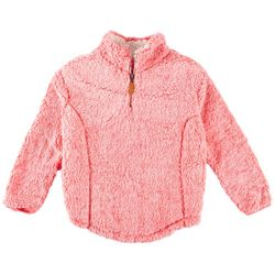 Poof Big Girls Frosted Quarter Zip Jacket