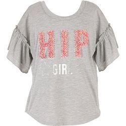 Speechless Big Girls Hip Girl Textured Top