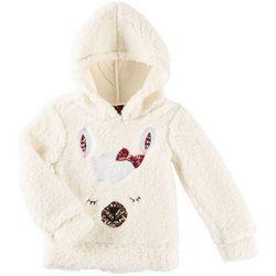 Miss Chievous Big Girls Llama Sherpa Hooded Sweater