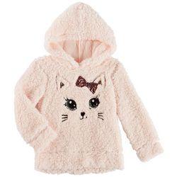 Miss Chievous Big Girls Kitten Sherpa Hooded Sweater
