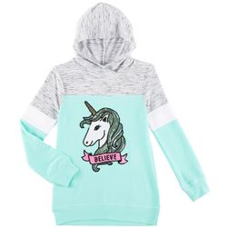 Miss Chievous Big Girls Believe In Unicorns Hooded Top