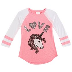 Miss Chievous Big Girls Unicorn Love T-Shirt