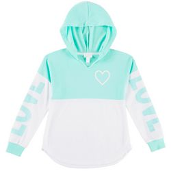 Miss Chievous Big Girls Love Colorblocked Hooded Top