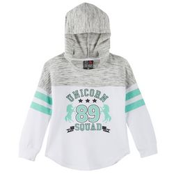 Miss Chievous Big Girls Unicorn Squad Hooded Top