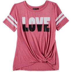 Miss Chievous Big Girls Love Twist Front T-Shirt