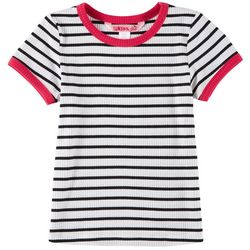 1st Kiss Big Girls Striped Rib Knit T-Shirt