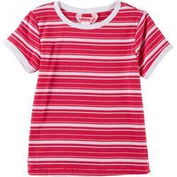 1st Kiss Big Girls Striped Rib Knit T-Shirt