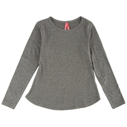 1st Kiss delivers fun and fashionable apparel! This long sleeve top features a heathered design and a round neckline.