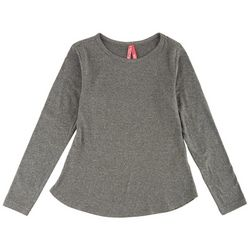 1st Kiss Big Girls Heathered Long Sleeve Top