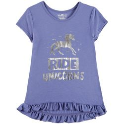 Hollywood Big Girls Ride Unicorns Ruffle T-Shirt