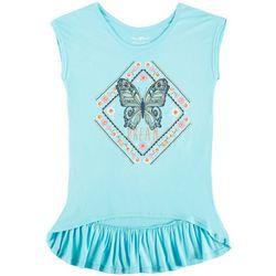 Hollywood Big Girls Dream Butterfly Ruffle T-Shirt