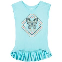 Hollywood Big Girls Dream Butterfly Ruffle T-Shirt
