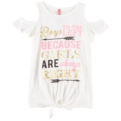 Cute 4 U Big Girls Boys Left Girls Right T-Shirt