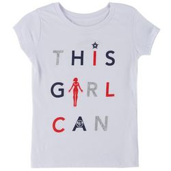 Marvel Captain Marvel Big Girls This Girl Can T-Shirt
