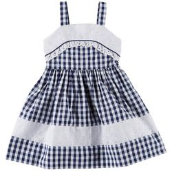 Emily West Little Girls Gingham Seersucker Dress